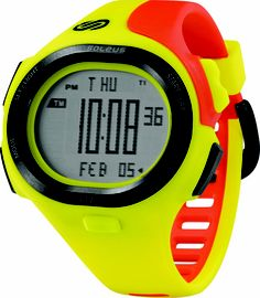 Soleus Running Watch - P.R. - Sol Yellow / Bright Orange