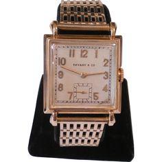 1946 18k Tiffany & Co  CH Meylan Wrist Watch 14K Solid Gold Band Keeping Time