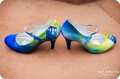 Doctor Who wedding tardis shoes. This are so beautiful I want to cry