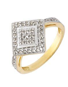 Diamond Ring - Yellow Gold Diamond Ring - 710347 – Salera's Jewellmasters