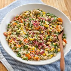 Confetti Quinoa Salad | A Sweet Spoonful
