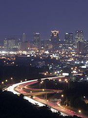 Nightime view of Birmingham, AL