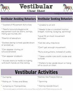 Vestibular Activities cheat sheet                                                                                                                                                                                 Mais
