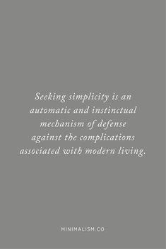 Minimalist inspirational quote » Take the Minimalism Challenge at minimalism.co