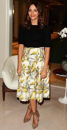 How to Wear Spring Trends at Work - A Midiskirt - from InStyle.com