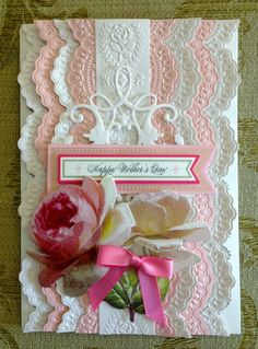 """Handmade Anna Griffin Vintage """"Happy Mother's Day"""" Greeting Card"""