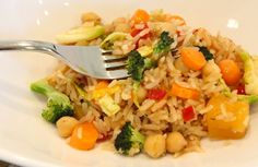 Mixing vegetables with low sodium soy sauce is a great solutions for a colorful fried rice that children enjoy!