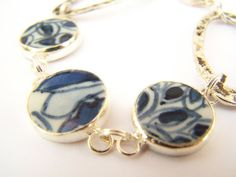 I hope it's not REALLY ming pottery.  But beautiful.  #bracelet #jewelry $24