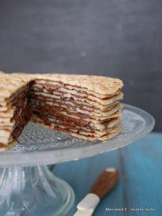 Le gâteau de crêpes au Nutella, une recette vraiment facile à faire !
