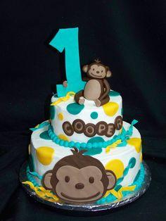 Mod Monkey 1St Birthday on Cake Central