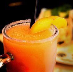 Tasty, refreshing Jose Pepper's peach margarita.