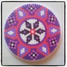 Mandala hama perler beads by Rikke Østerø