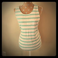 Splendid striped tank NWT! Rayon/cotton/poly blend. Size large, very comfy and breathable! Splendid Tops Tank Tops