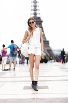 Get this look on @Wheretoget or see more #shirt #le_fur_coat #sunglasses #shorts