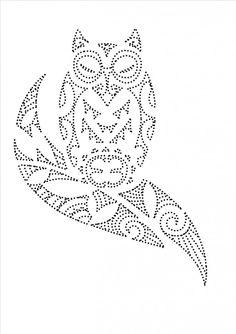 Uil | Vogels en Vleermuizen | glittermotifs