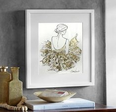 Ballerina Painting Ballet Painting Gold Painting Gold Leaf Girl Ballerina Wall Art Ballerina Picture Nursery Wall Decor by Julia Kotenko Canvas Wall Decor, Nursery Wall Decor, Canvas Art Prints, Painting Prints, Gold Leaf Art, Gold Wall Art, Diy Wall Art, Ballet Painting, Feather Painting