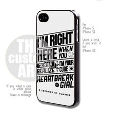 5 Seconds of Summer - For iPhone 5,5s NOTE for iPhone 5C | TheCustomArt - Accessories on ArtFire