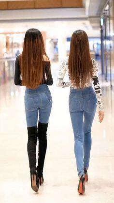 Korean Beauty Girls, Korean Girl Fashion, Asian Fashion, Korea Fashion, Sexy Outfits, Sexy Dresses, Girl Outfits, Mädchen In Leggings, Fashion 2020