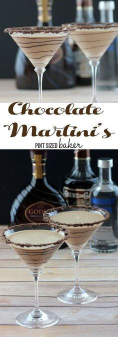 Enjoy girls night in with these decadent Chocolate Martinis! The perfect blend of Chocolate and alcohol.