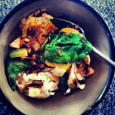 Breakfast: Eggs x2, Sockeye Slamon 1/4, Green leaf. #Danielplan #mentalhealth #breakfast #kaliuafarmersmarket