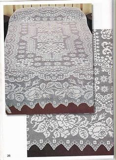 Large blanket with roses