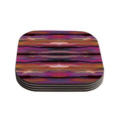 Kess InHouse Nina May 'Sola Color' Pink Coasters