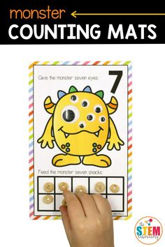 Few things are quite as exciting to kids as monsters. These playful counting mats put all of that excitement to great use – giving children practice with number recognition, counting AND ten frames.