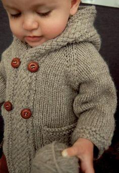 Baby Knitting Patterns Men Ravelry: Latte Baby Coat pattern by Lisa Chemery. Also pattern includes without … Baby Knitting Patterns, Coat Patterns, Knitting For Kids, Baby Patterns, Knitting Projects, Crochet Projects, Crochet Patterns, Easy Knitting, Skirt Patterns