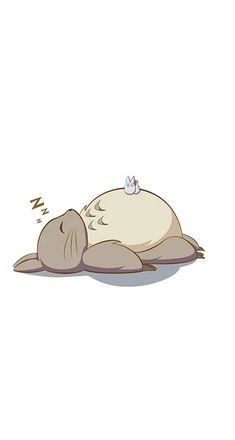 Adorable Totoro Wallpaper c: if you're looking for something simple yet cute, this is what you need~!!! (⌒▽⌒)