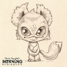 Chris Ryniak makes the cutest monsters Morning scribbles