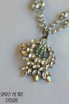Vintage+Rhinestone+and+Pearl+One+of+a+Kind+by+simplymeart+on+Etsy,+$82.00