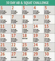 30 Day Ab & Squat Challenge.