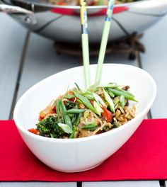 Beef and Broccolini Stir Fry with Rice Noodles - Pots and Pans