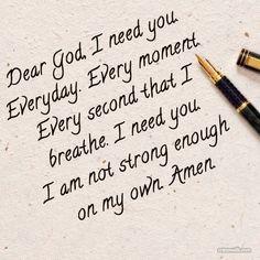 God quote trust need