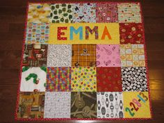 Custom Baby Quilt with NAME and DATE I spy by FabricCreationsFran, $110.00