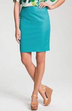 Halogen® Stretch Cotton Blend Pencil Skirt @ Nordstrom $59.00