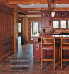 Kitchen -Granite and Wood Counter Concept