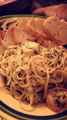 [Homemade] Shrimp pesto pasta #food #foodporn #recipe #cooking #recipes #foodie #healthy #cook #health #yummy #delicious