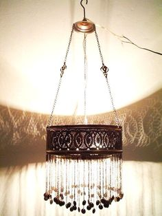 Item Up for sale, an authentic Arabian piece of art. It is made of brass and has a special oxidized copper finish. Lampshade Chandelier, Ring Chandelier, Chandeliers, Moravian Star Light, Moroccan Decor, New Room, Blacksmithing, Metal Working, Diy Ideas