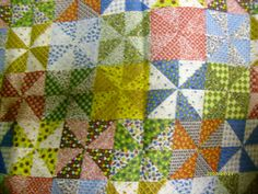 2 yds Vintage Calico Cheater Quilt Fabric
