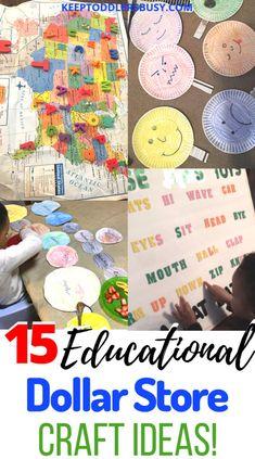 15 Educational Dollar Store Craft Ideas