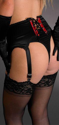 Strapsgürtel Strapse Gürtel Schleife verstellbar mit Strapsbänder Dessous