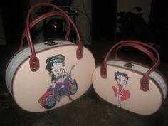 Pair of 2 Betty Boop Women's Handbag Set Designer Fashion Tote Bag Vintage &RARE #Handmade #TotesShoppers