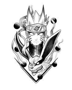 Learn more about tattoo styles and the work of Diego Favaretto - diihfavaretto (Tattoo artist). Anime Naruto, Kurama Naruto, Naruto Shippuden Anime, Naruto Art, Otaku Anime, Itachi, Naruto Sketch Drawing, Naruto Drawings, Anime Drawings Sketches