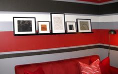 Fesselnd Rayures Paint Sur Un Mur   Painted Wall Stripes Schlafzimmer Ideen,  Kinderzimmer, Badezimmer,