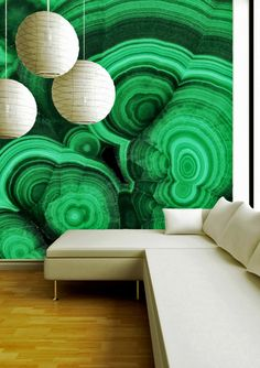 Collezione_Malachite_Verde - Rare Mineral Wallpaper by Brenda Houston - Black Crow Studio