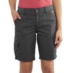 Carhartt Womens Cotton Polyester Moisture Wicking Stainbreaker Force ShortShadow4 -- Details can be found by clicking on the image.
