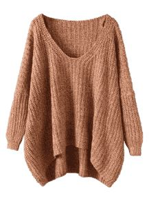 Chunky V Neck Oversized Sweater