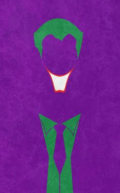"Minimalist poster: 'Joker' (Batman - Joker) ""Joker by thelincdesign.deviantart.com on @deviantART"""