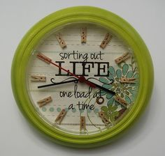 LAUNDRY ROOM CLOCK - I am going to try making a version of this on my own!